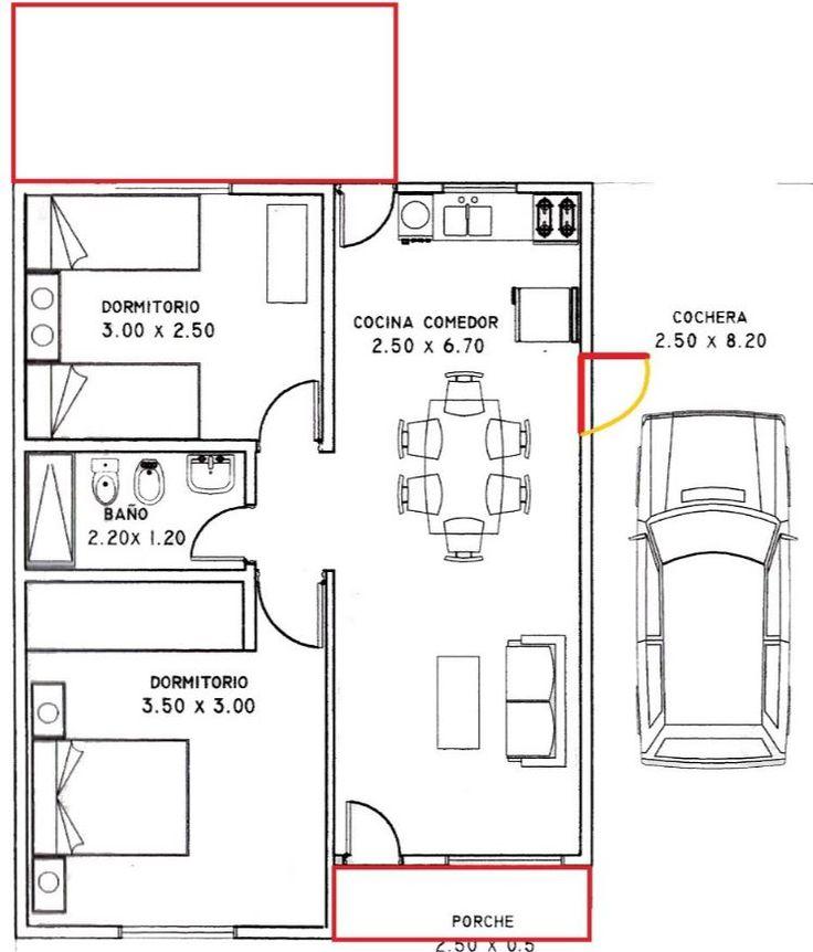 Como hacer distribuci n casa 80 metros cuadrados planos - Distribucion casa ...