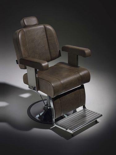 Fauteuil de barbier / contemporain / en cuir / avec repose-pieds BOSS Salon Ambience