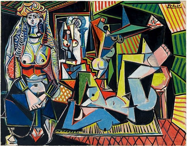 """What """": Femmes d'Alger"""" by DELACROIX inspired to Picasso in 1955"""