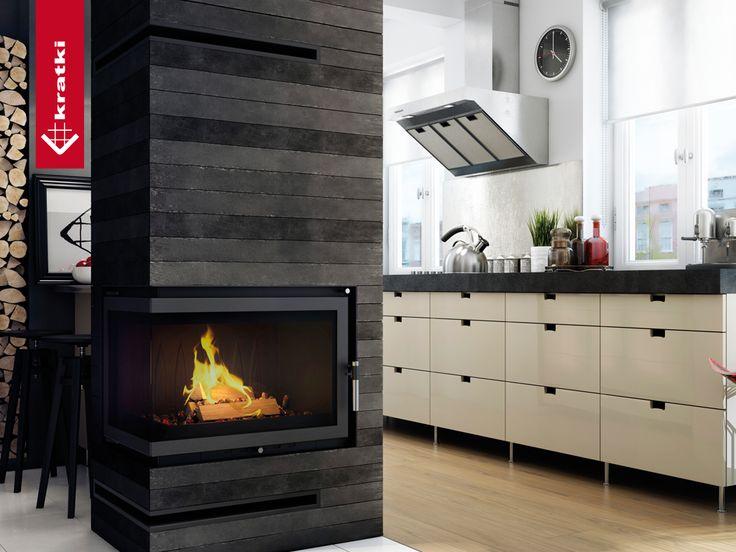Fireplace OLIWIA 18 kW left type BS #kratkipl #kratki #fireplace #insert #interior #livingroom