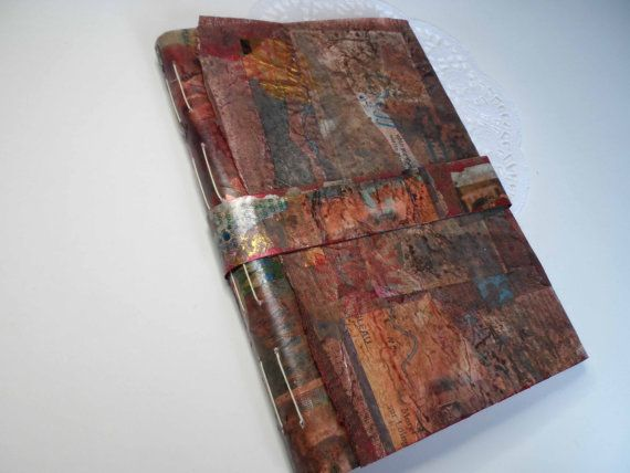 Brown sketchbook with sugar paper by JaninaMaherArtist on Etsy