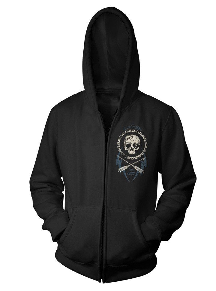 """Unisex """"Live Faster"""" Zip-Up Hoodie by 7th Revolution 