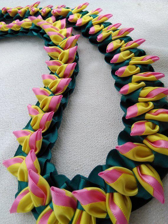 "Yellow Island Lei 18/"" Hawaiian Silk Leis"