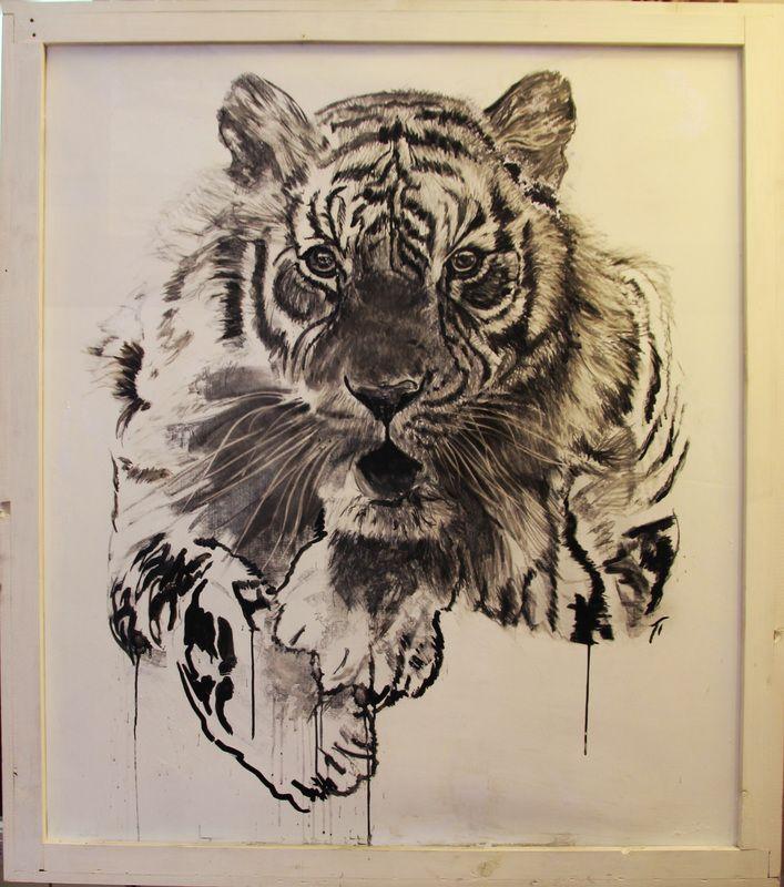 tigre, ink, inchiostro