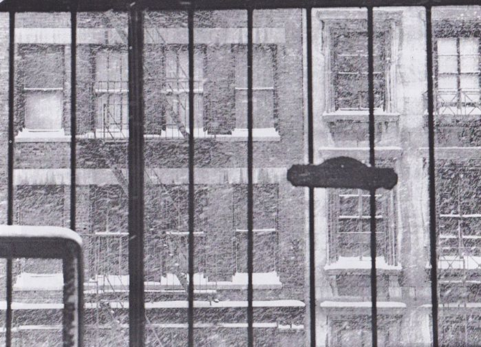 """This multiple image work is a study in greys. Michael Snow, """"Snow Storm,"""" 1967, National Gallery of Canada."""