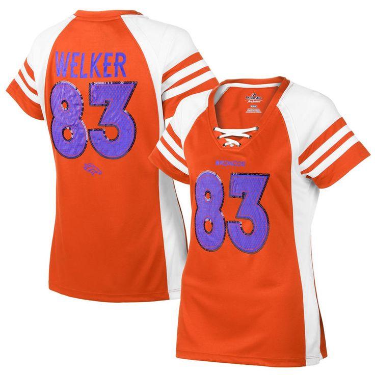 Wes Welker Denver Broncos Majestic Women's Draft Him IV T-Shirt – Orange