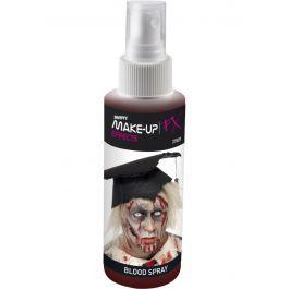 Het is een spray met nep bloed in de rode kleur die gebruikt kunnen worden om zombie of enge make-up enger te maken en wonden echt te laten lijken. Kan gedragen worden op de huid. Perfect voor een horror feest of Halloween om je outfit net dat beetje extra te geven.