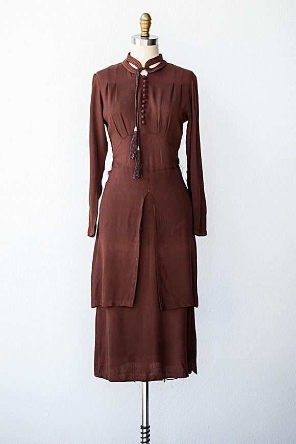 vintage 1930s dress | 30s dress | Salle de Festins Dress #vintagedress #vintage