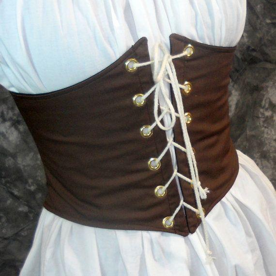 Renaissance Waist Cincher Pirate Waist Belt by MidnightsMeadow