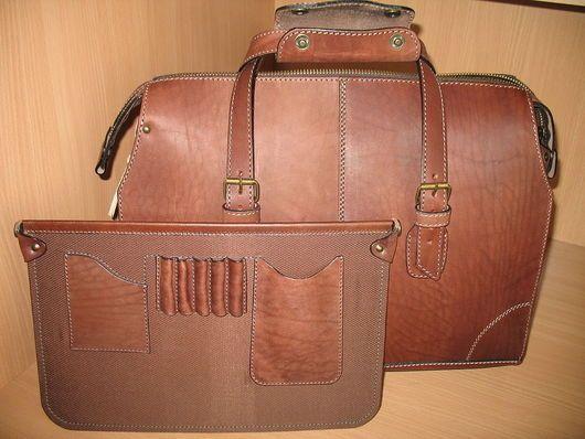Мужские сумки ручной работы. Сумка мужская кожаная