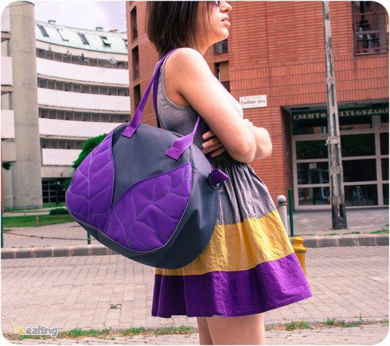 Leaf Overnight bag Weekender bag Waterproof by LeaflingoOo on Etsy, $78.00