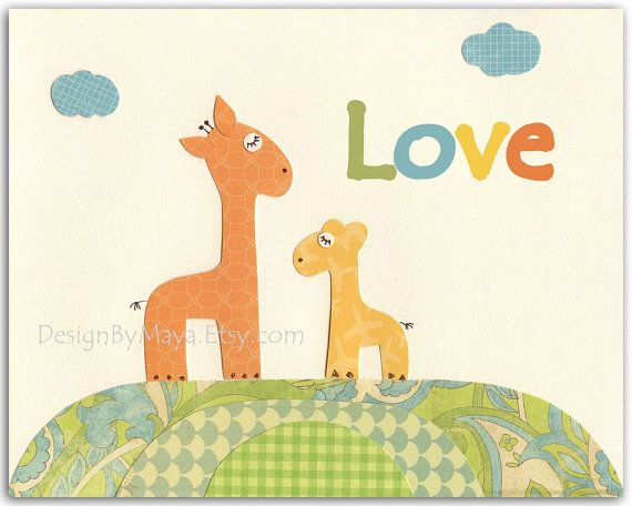 Baby room art, Nursery art prints, Baby Room decor, Nursery Art Decor, Kids Print..Inspiration quote..Love via Etsy