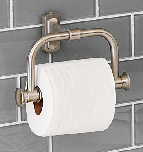 Bingham Toilet Paper Holder: Rejuvenation. Has the look of a 1920's holder with that single, center anchor