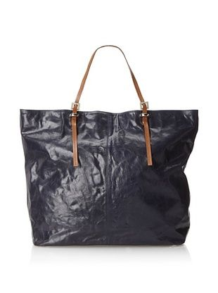 64% OFF Latico Women's Heritage Tote, Navy/Tan