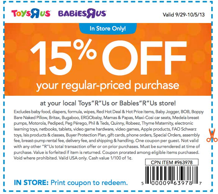 This is a picture of Versatile Baby R Us Printable Coupons