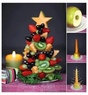 Edible Christmas tree fro, fruit
