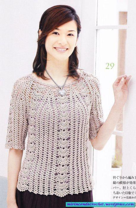 Una blusa delicada!!!! | Mi Rincon de Crochet                                                                                                                                                                                 Más