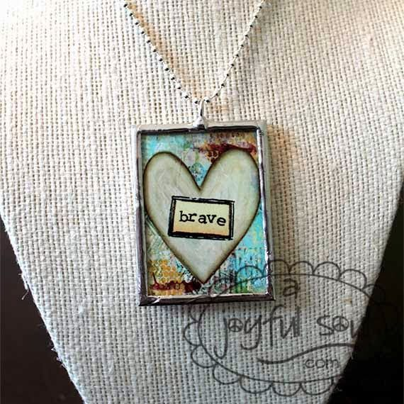 "ARTICLE:  Can you ""say what you want to say"" like the Sara Bereilles song ""Brave""??   BRAVE Art Charm Necklace available from www.ajoyfulsoul.com"