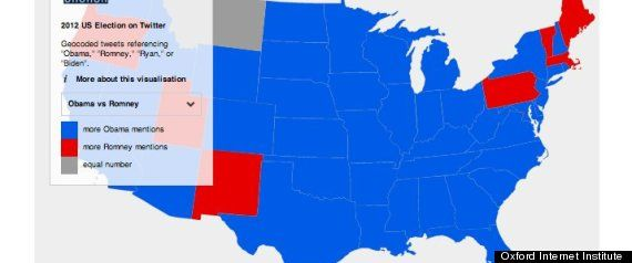 Twitter Map Predicts 2012 Presidential Election: Will It Be Right? - The Huffington Post
