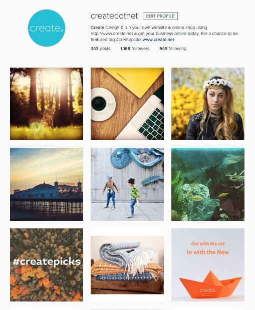 Come follow our lovely Instagram page, @createdotnet! We have lots of amazing products, inspiration and business tips to share with you! #createpicks