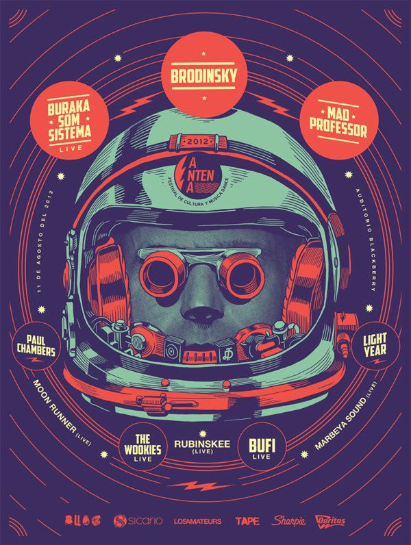 Gig Posters for Mercadorama 2012 by Smithe , via Behance