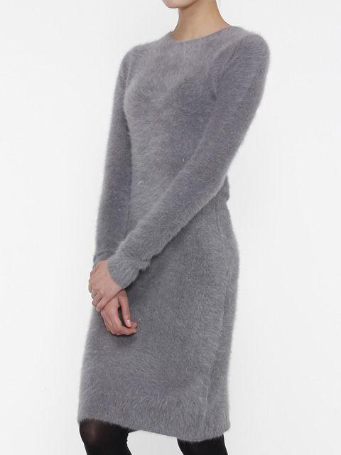 &W Studio Slimfit Angora Dress