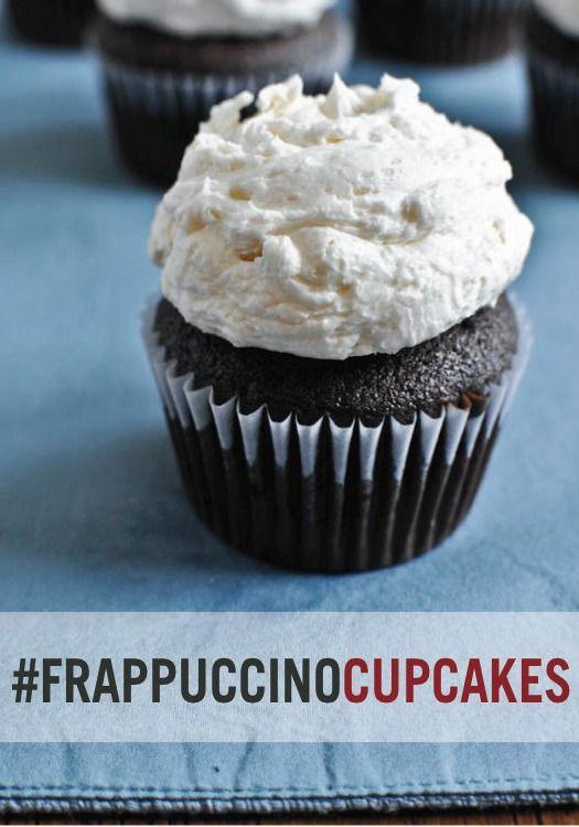 Deliciously sweet mocha coconut Frappuccino cupcakes!
