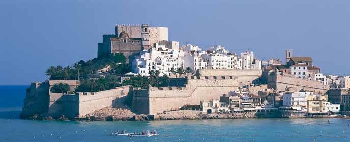Peniscola Spain  City new picture : Citadel of Papa Luna. Templar Castle in Peniscola, Spain