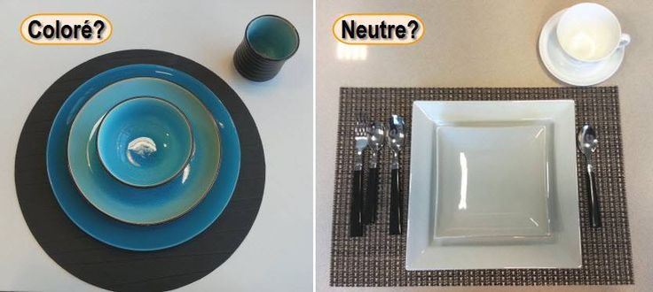 Au quotidien, votre vaisselle est-elle colorée ou neutre?