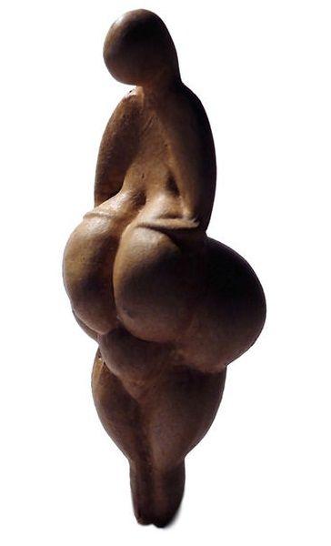 Venus de Lespugue: Es una estatuilla de marfil. Descubierta en 1922 por R. y S. de Saint-Périer en la «Cueva de las Cortinas», en Lespugue (Francia). Se data entre 26 000 y 24 000 años de antigüedad.
