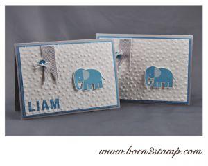 Babykarte mit den Zoo Babies