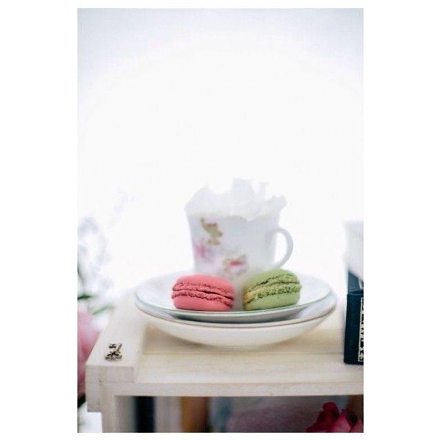 Sally Bay, teacup, floral, macaron, pink, key, styling