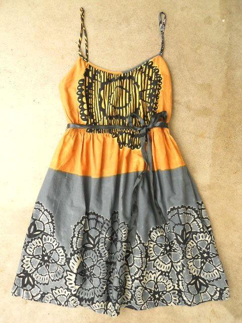 Tropical Ink Print Batik Dress on http://lolobu.com/o/2163