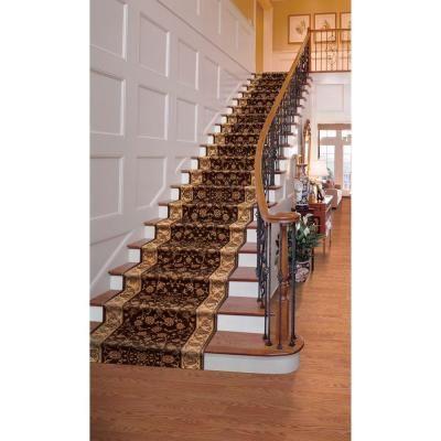 natco kurdamir rockland brown stair runner from home depot
