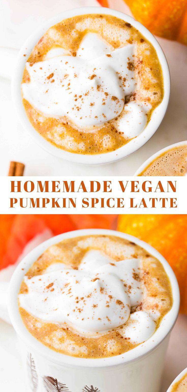 Erfahren Sie, wie Sie den besten Kürbisgewürz-Latte zu Hause zubereiten. Besser als Starbucks, ein …   – drinks vegan – getränke