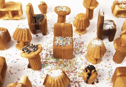 Sapore dei Mobili- Tiny Furniture-Shaped Cakes: Dei Mobili, Miniatures Furniture, Ryosuk Fukusada, Minis Cakes, Rui Pereira, Contemporary Furniture, Waffles Irons, Ahhahaha Bellissimo, Furniture Cakes