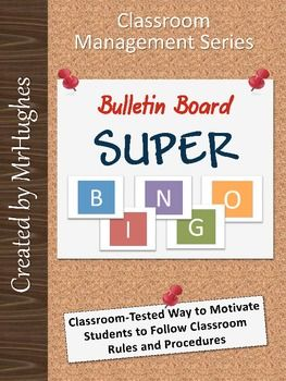Bulletin Board Super BINGO-  A bulletin board sized bingo board with tips, hints, and suggestions on how to get the most out of it! A Top 50 Seller! ($)Behavior Ideas, Super Bingo, Helpful Promotion, Boards Super, Bingo Boards, Bulletin Boards, Classroom Behavior, Behavior Management, Classroom Management