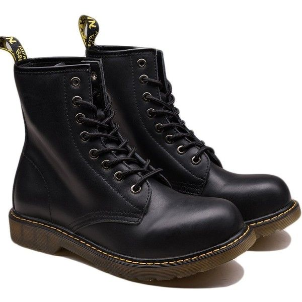 OUOUVALLEY Men's Lace-Up Genuine Leather Waterproof Combat Boots (117.940 COP) ❤ liked on Polyvore featuring men's fashion, men's shoes, men's boots, mens wide width boots, mens leather combat boots, mens leather motorcycle boots, mens boots and mens motorcycle boots
