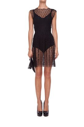 Black transparent dress avaliable at mostrami.pl from 220 EUR / http://mostrami.pl/product-pol-2306-Koronkowa-sukienka-.html