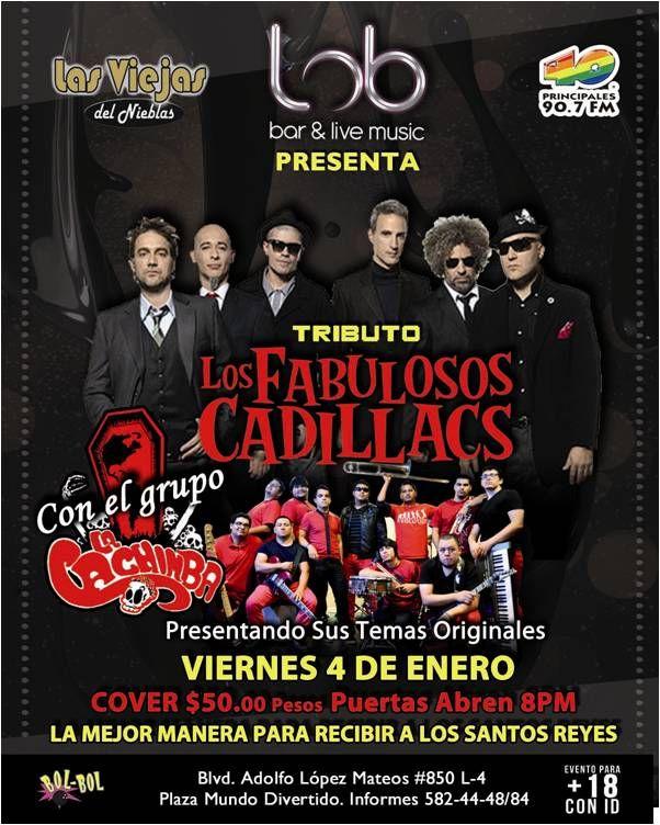 Tributo FABULOSOS CADILACS con el grupo La Cachimba (Enero 2013)