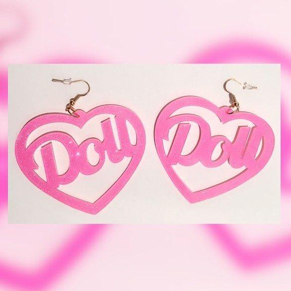 ✨NEW!✨ DISCO DOLL Large pink glitter resin earrings @ BABYVOODOO.COM✨ #babyvoodoo #babyvoodooart #kawaii #kawaiifashion #ddlg #lolitafashion #realdoll #humandoll #beanie #winterstyle #winterfashion #kawaiigirl #kawaiigrunge #harajuku #harajukufashion #harajukustyle #harajukugirl #fakelashes #fakeeyelashes #falselashes #falseeyelashes #pink #white #lolita #littlespace #babygirlfashion #babygirlclothes #babygirl #cute #love