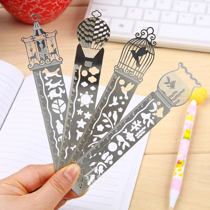 10 pcs Aesthetic ultra-thin mini exquisite metal bookmark with dial brief cute bookmark US $9.90
