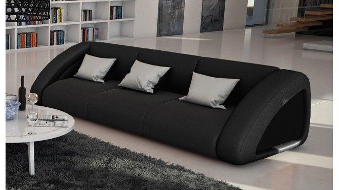Canapé cuir 3 places design - Brooks
