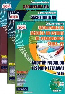 Apostila Concurso Secretaria da Fazenda do Estado de Pernambuco - SEFAZ / PE - 2014: - Cargo: Auditor Fiscal do Tesouro Estadual - AFTE I