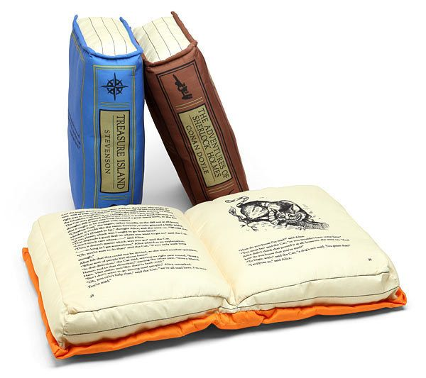 Book Pillow. Not HP, but seriously, how awesome would it be to figure out a way to make the series as a book pillow?