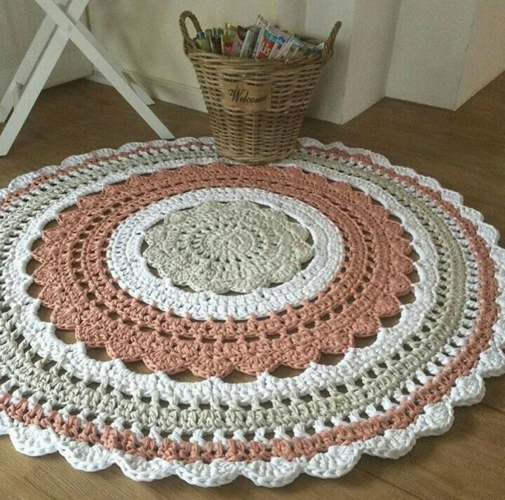 277 Best Images About Crochet Rug Round On Pinterest