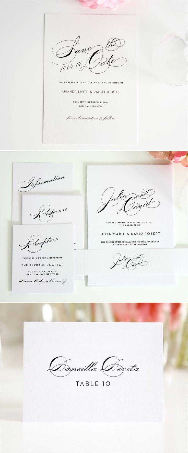 modern vintage glam wedding invitations #vintage #stationery #invitations #script http://www.shineweddinginvitations.com/wedding-invitations/vintage-glam-wedding-invitations