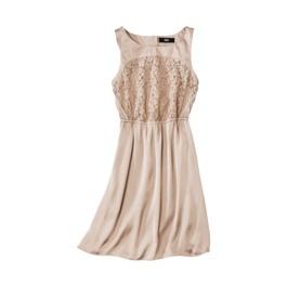 Little tan lace dress