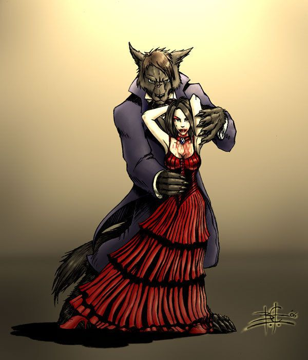 vampire and werewolve in love - Werewolves & Vampires Fan Art ...