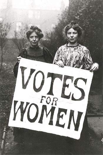 Women's suffrage Thanks to those ladies who gave up much to give us much!  You have begun to change our lives, it's up to us to do the rest.
